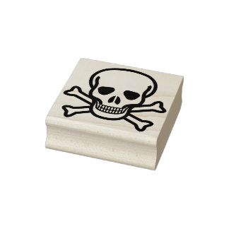 Skull and crossbones 2 illustration art stamp