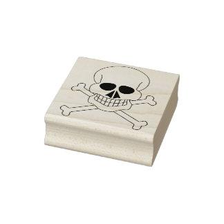 Skull and crossbones 4 illustration art stamp