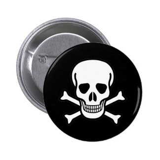 Skull and Crossbones 6 Cm Round Badge