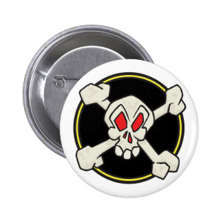 Skull and Crossbones 6 Cm Round Badge