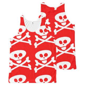 Skull and Crossbones All-Over Print Singlet
