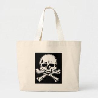 skull and crossbones. bags