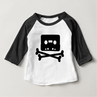 SKULL AND CROSSBONES CASSETTE TAPE BABY T-Shirt