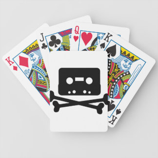 SKULL AND CROSSBONES CASSETTE TAPE BICYCLE PLAYING CARDS