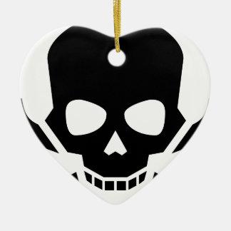 Skull and Crossbones Ceramic Ornament