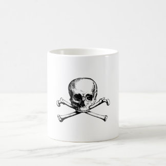 Skull and crossbones coffee mug