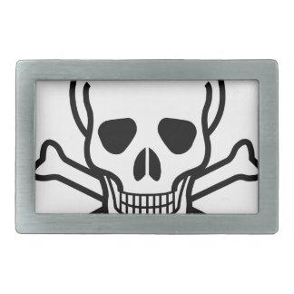 Skull and Crossbones death symbol Belt Buckle