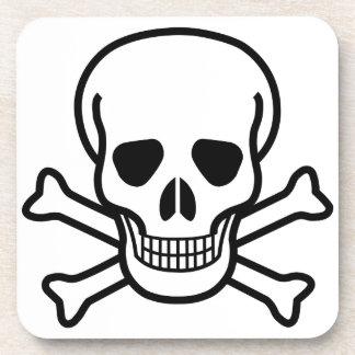 Skull and Crossbones death symbol Coaster