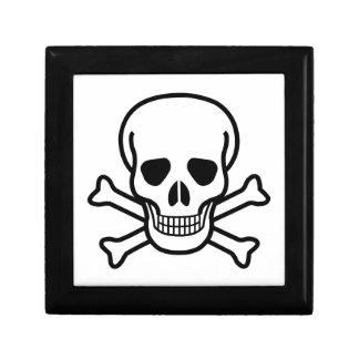 Skull and Crossbones death symbol Gift Box