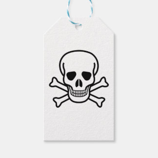 Skull and Crossbones death symbol Gift Tags