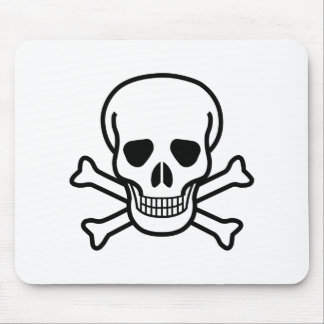 Skull and Crossbones death symbol Mouse Pad