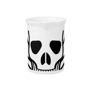 Skull and Crossbones death symbol Pitcher