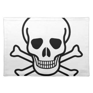Skull and Crossbones death symbol Placemat