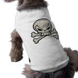 Skull and Crossbones Doggy Tee Sleeveless Dog Shirt