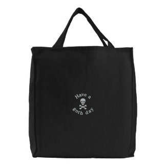 Skull and Crossbones Embroidered Bags