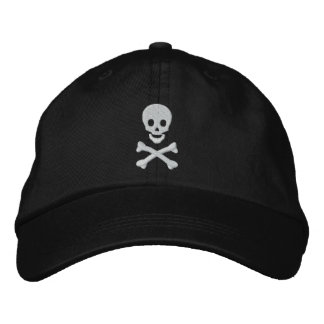 Skull and Crossbones Embroidered Hat