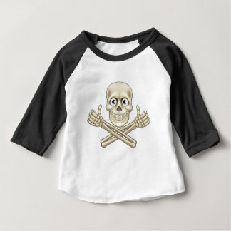Skull and Crossbones Giving Thumbs Up Baby T-Shirt
