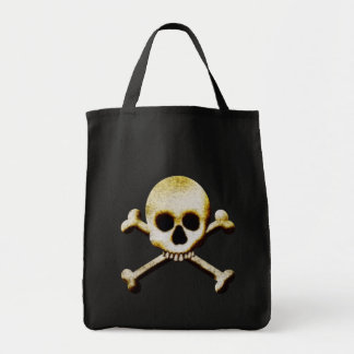Skull And Crossbones Grocery Tote Bag