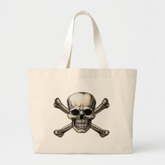 Skull and Crossbones Icon Tote Bag