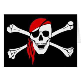 Skull And Crossbones Jolly Roger Card