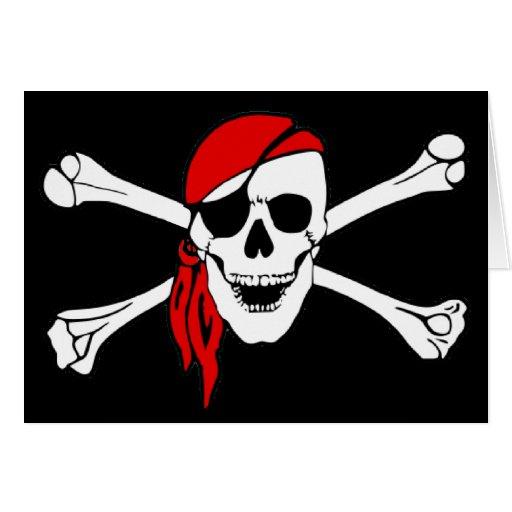 Skull And Crossbones Jolly Roger Greeting Cards