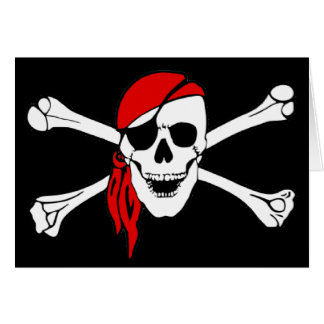 Skull And Crossbones Jolly Roger Greeting Card