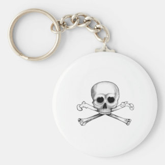 Skull and Crossbones Key Ring