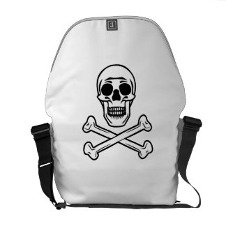 Skull And Crossbones Courier Bags