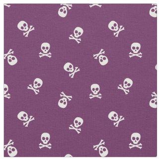 Skull and Crossbones on Purple Fabric