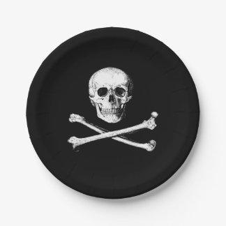 Skull and crossbones paper plates