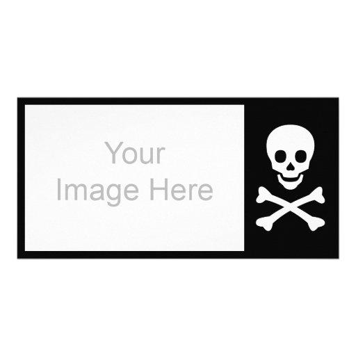 Skull and Crossbones Customized Photo Card