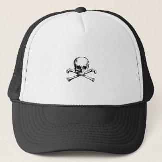 Skull and Crossbones Pirate Icon Trucker Hat