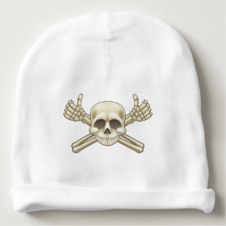 Skull and Crossbones Pirate Sign Baby Beanie