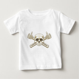 Skull and Crossbones Pirate Sign Baby T-Shirt