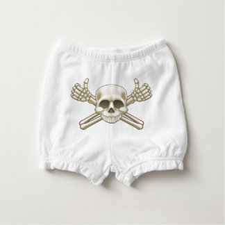 Skull and Crossbones Pirate Sign Nappy Cover