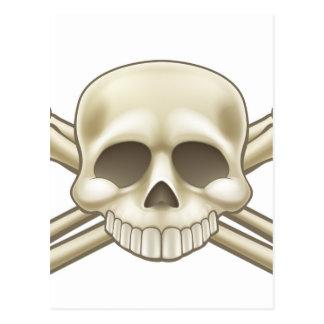 Skull and Crossbones Pirate Sign Postcard