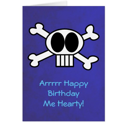 Skull and Crossbones Pirate Theme Birthday Card