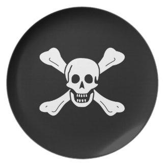 Skull and Crossbones Plate