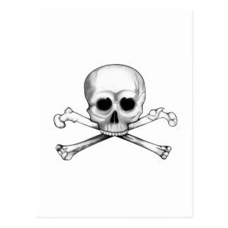 Skull and Crossbones Postcard