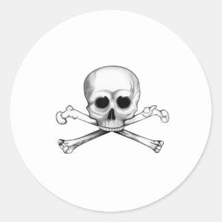 Skull and Crossbones Round Sticker