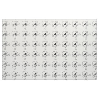 Skull And Crossbones Scary Halloween Haunted House Fabric