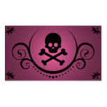 skull and crossbones sophistications pack of standard business cards