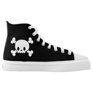 Skull and Crossbones Summer High Top Printed Shoes