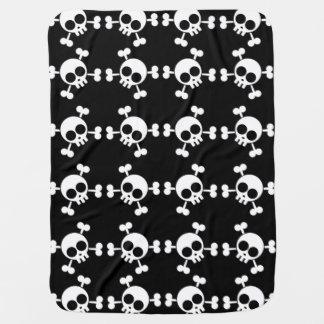 Skull and Crossbones Swaddle Blankets