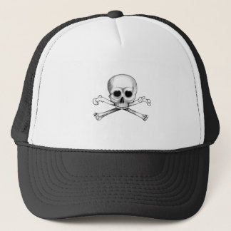 Skull and Crossbones Trucker Hat