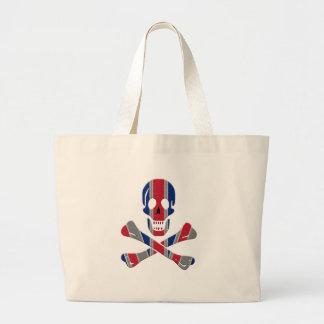 Skull and Crossbones Union Jack Jumbo Tote Bag