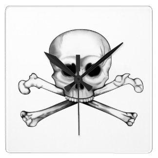 Skull and Crossbones Wallclocks