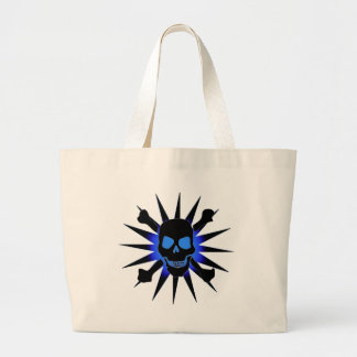 Skull and Crossbones with Starburst Canvas Bag