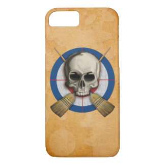 Skull and Crossbrooms - Curling Design iPhone 8/7 Case