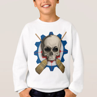 Skull and Crossbrooms - Curling Design Sweatshirt